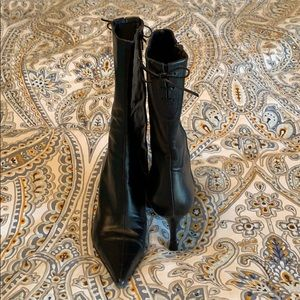 Charles David Mid Calf Boots Leather